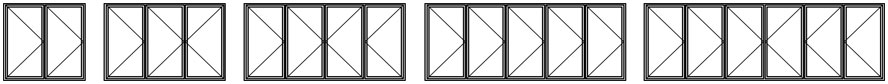 Bi-fold Windows Configurations