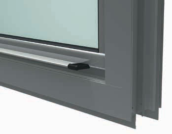 Integrated sash handles with protective end caps.